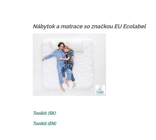 Ilustračný obrázok k zdroju Nábytok a matrace so značkou EU Ecolabel